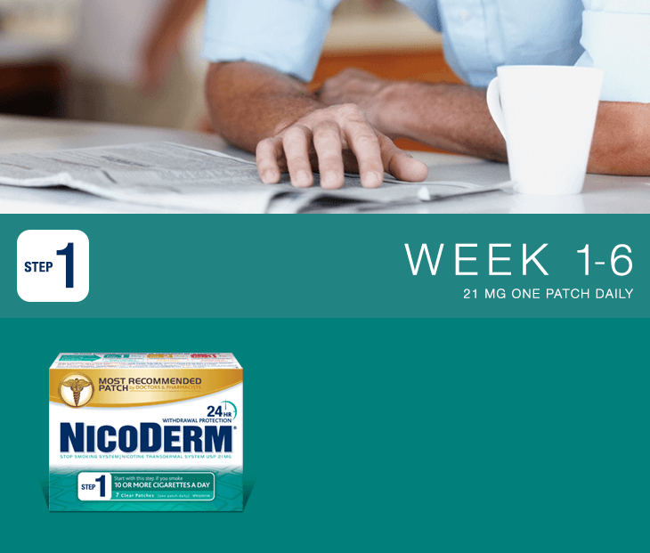 Nicoderm Step 1 - 21 MG Nicotine Patch