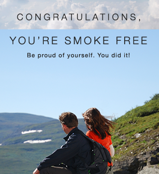 Congratulations on being smoke free