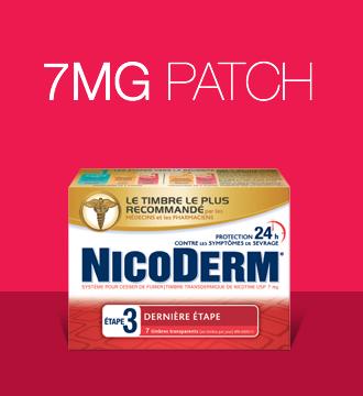 NICODERM Patch Step 3 smoking cessation products