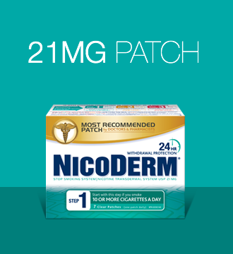 NICODERM Patch Step 1 smoking cessation products